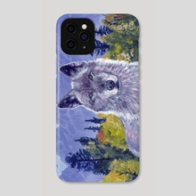Grey Wolf - Phone Case by Mark Green