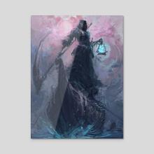 Death - Acrylic by Jason Nguyen