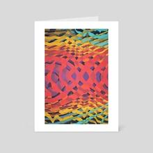 Interweaving Impulses - Art Card by d Cosmos