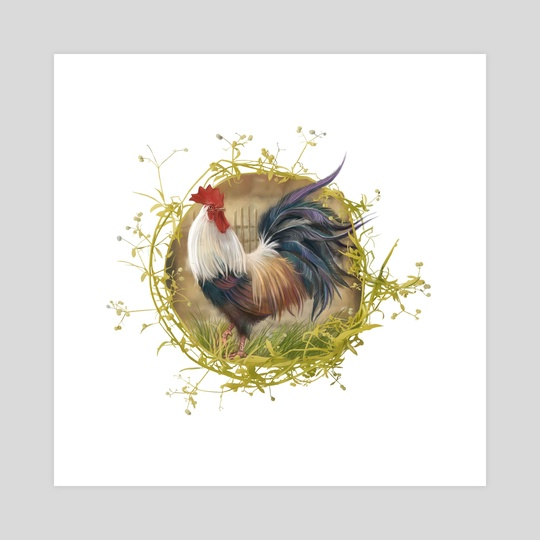 Rooster1 by Vitali Dudarenka