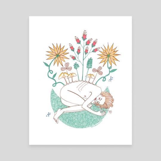 Wildflowers II by Diazee Kietlinska