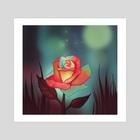 Night rose - Art Print by FoxbergART Foxberg