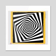 OpArt 01 - Acrylic by Joanny C. Chavarria