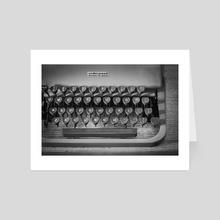 Typewriter With Dust - Art Card by Brenda Hernandez