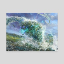 Yarok's Wavecrasher - Canvas by Randy Vargas