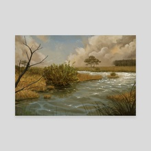 Marsh landscape - Canvas by Alejandro García