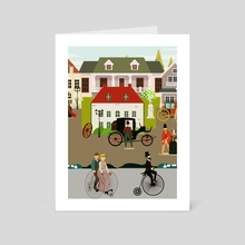 A street in the 19th  - Art Card by Michal Eyal