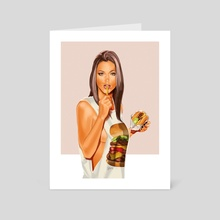Burger Girl - Art Card by fleshybits