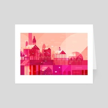 Pink City - Art Card by Tracy Lee