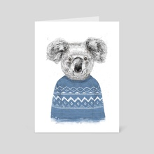 Winter koala - Art Card by Balazs Solti