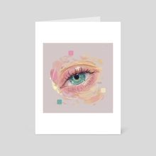 Emerald Eye - Art Card by Silvana Bossa