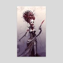 Dollface - Canvas by Austen Mengler