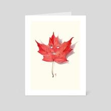 Red Leaf Sprite - Art Card by Luke Jones