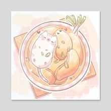 kitten n dumplings - Acrylic by oatpuff
