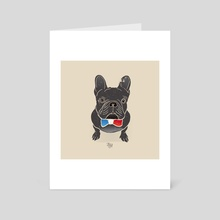 French BullDog - Art Card by LeftHandedGraphic