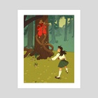 Untamed Heart - Inuyasha and Kagome - Art Print by Kate Sheridan