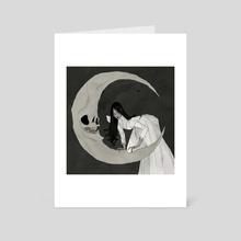 Skelemoon - Art Card by Abigail Larson