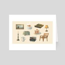 my favorite things - Art Card by Jinny Kim