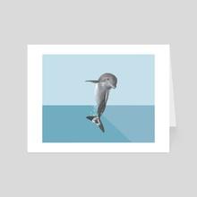 The Dolphin - Art Card by La Fabrique Initials CC