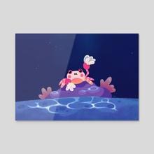 Pom pom crab - Acrylic by pikaole