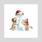 Florida Snow Panther - Art Print by Chelsea Loren Edwards