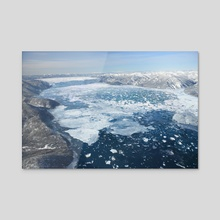 GLACIAL LAKE MISSOULA - ICE DAM - Acrylic by Jared Shear