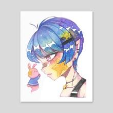Unite   Watercolour - Acrylic by Viki