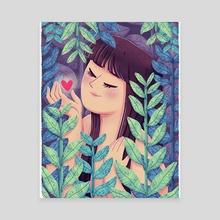 Plant lady #4 - Canvas by Patrycja Fabicka