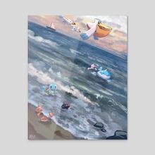 Pokemon Ocean 2 - Acrylic by Kay Fine