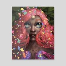 """Starburst - Acrylic by Ejiwa """"Edge"""" Ebenebe"""