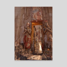 wonders the door to the luxor - Canvas by Te Hu
