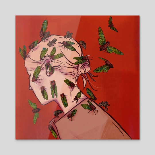 Cicada Head by Chloe Hendrickson