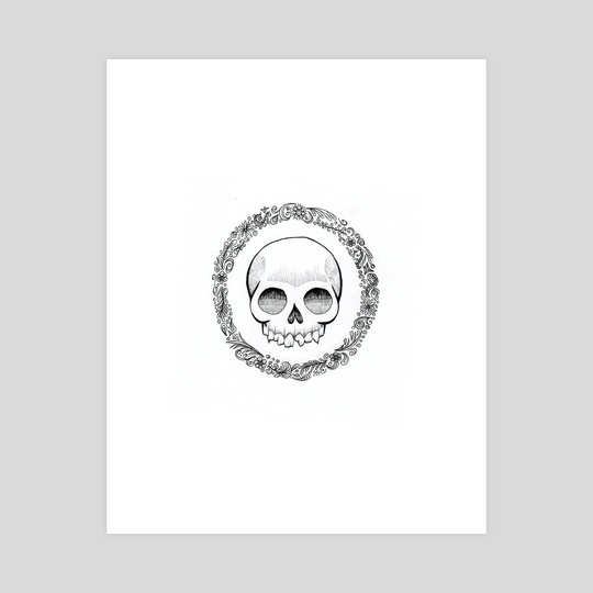 Floral Skull by Abercrombie Murdoc