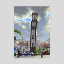 Cathedral - Canvas by Eduardo López Franquis