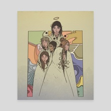 flores divinas print - Canvas by Andrew Bach