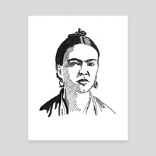 Frida Kahlo - Canvas by Dafina Dervishi