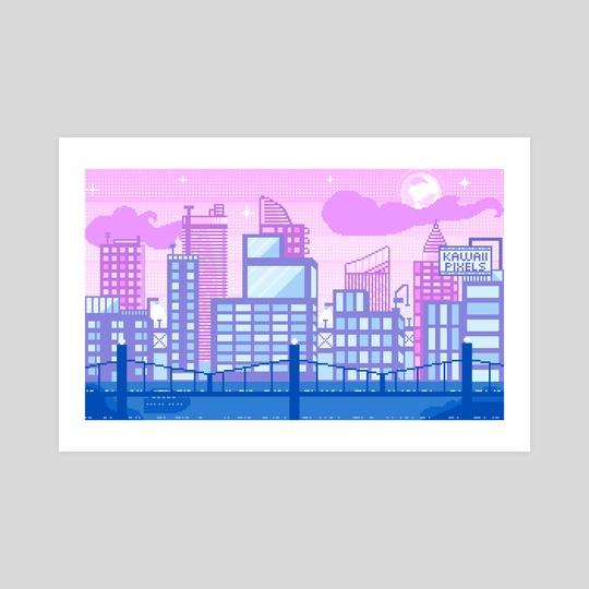 Pixel city by Laura Pixel Artist