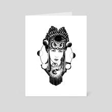Shaman - Art Card by Nora Penzina