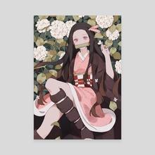 nezuko - Canvas by Yueko