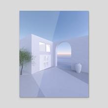 Greece 4 - Acrylic by Zoe Tischner