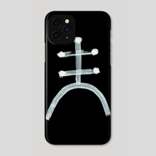 Alchemical Symbols - Amalgam One Inverted - Phone Case by Wetdryvac WDV