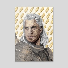 geralt - Acrylic by WITH A  PENCIL IN HAND