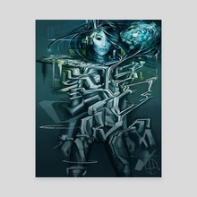 Graffiti Girl  - Canvas by Peter Lucier