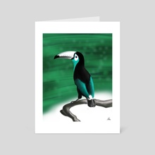 Teal Toucan - Art Card by Alfred Manzano