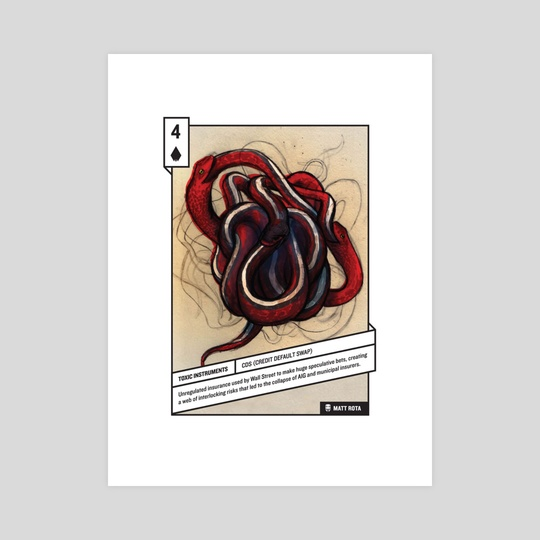 4 of Spades by 52 Shades of Greed