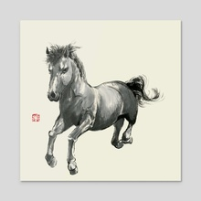 Horse - 2 - Acrylic by River Han
