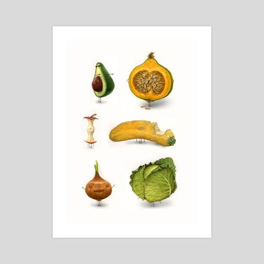 Rotten Fruit Friends set 2 by Tom Bonson