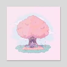 Peach  - Acrylic by Beni
