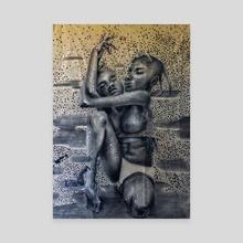 I L Y - Canvas by Fatou Ridgird