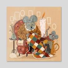 Family - Acrylic by Laura Proietti